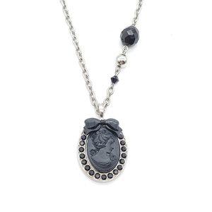 Tarina Tarantino black cameo necklace